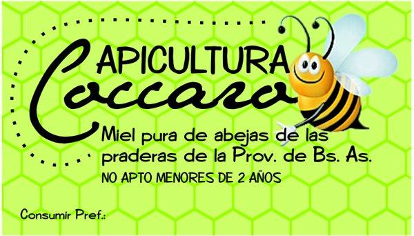 """Etiqueta """"Apicultura Caccaro"""""""