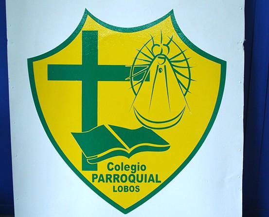 """Cartel """" Colegio Parroquial Lobos"""""""