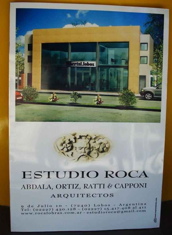 "Cartel ""Estudio Roca"""