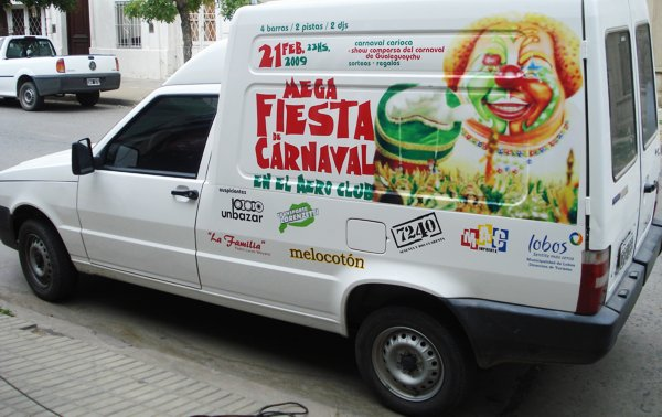 "Vinilo ""Mega Fiesta de Carnaval"""