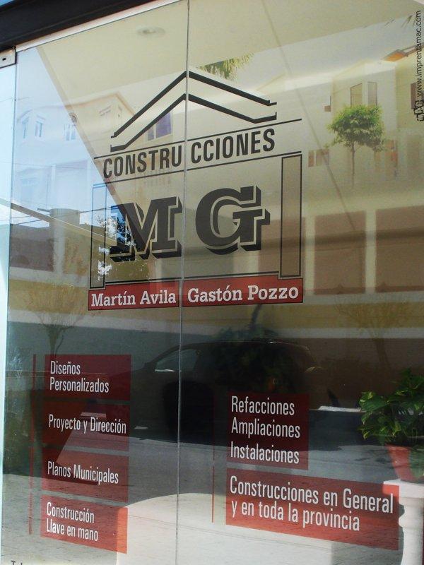 """Vinilo """"MG Construcciones"""""""