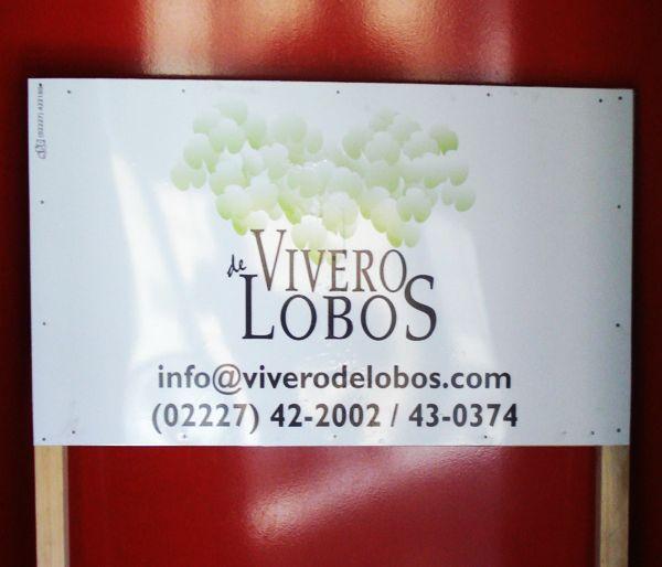 """Cartel """"Vivero de Lobos"""""""