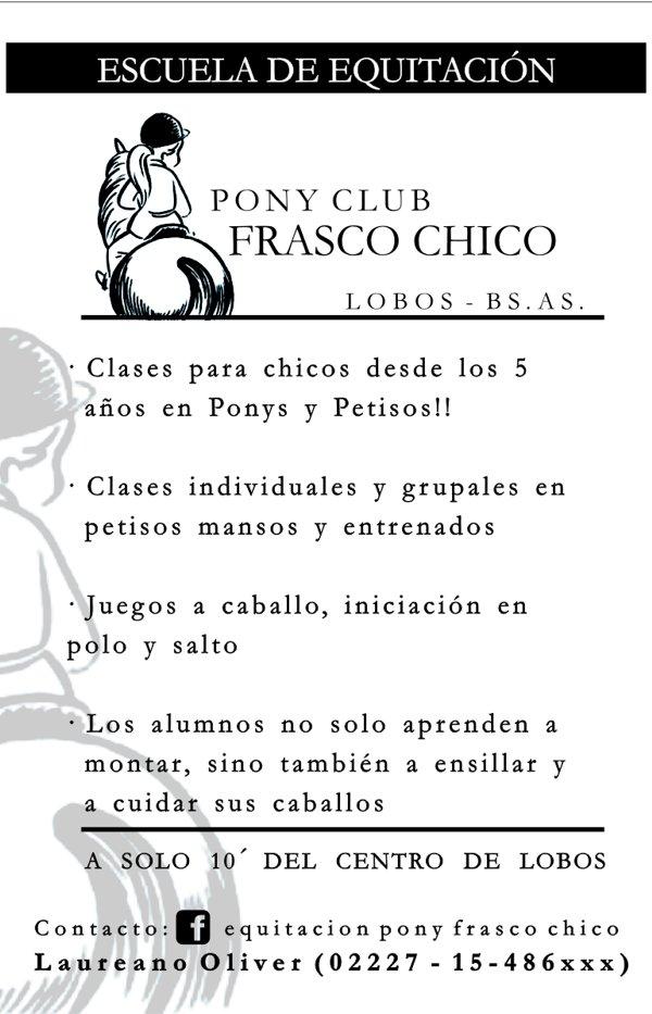 "Publicidad ""Pony Club Frasco Chico"""