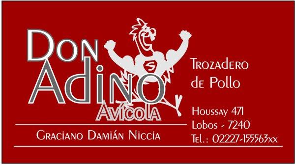 "Tarjeta Personal ""Don Andino Avícola"""