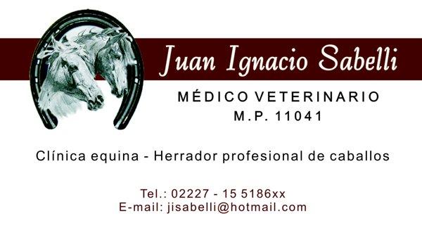 """Tarjeta Personal """"Juan Ignacio Sabelli"""""""