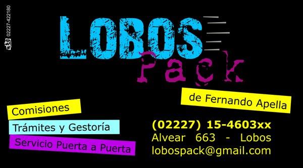 """Tarjeta Personal """"Lobos Pack"""""""