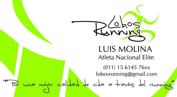 "Tarjeta Personal ""Lobos Running"""