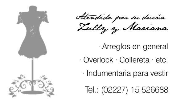 """Tarjeta Personal """"Lully y Mariana"""""""