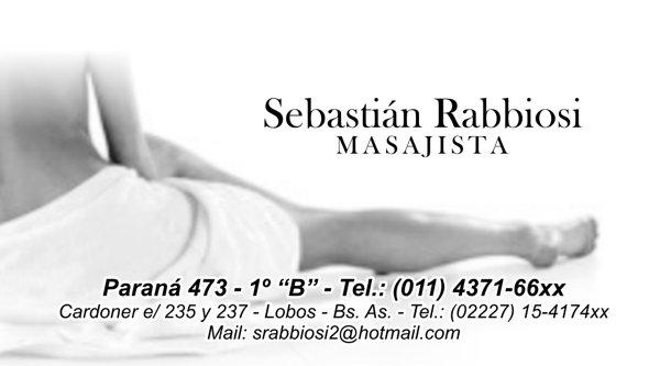 "Tarjeta Personal ""Sebastián Rabbiosi"""