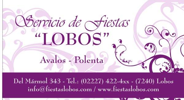 "Tarjeta Personal ""Servicio de Fiestas"""